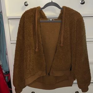 SUPER SOFT light brown fluffy jacket
